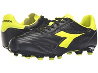 Diadora Brasil Lt Mg 14 Black Yellow Fluo Men's Soccer Shoes