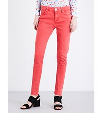 Sandro Cover Skinny Mid Rise Jeans Red