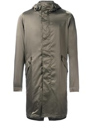 Theory 'Jacob' Hooded Coat Green