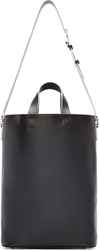 Raf Simons Black Leather Tote Bag
