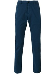 Paul Smith Ps By Skinny Fitting Branded Chinos Blue