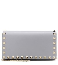 Valentino Rockstud Leather Shoulder Bag Grey