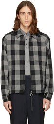 Lanvin Black Wool Check Jacket