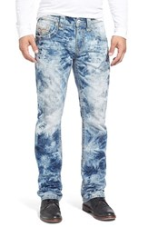 Men's Rock Revival 'Ernest Alternative' Straight Leg Tie Dye Jeans Light Blue
