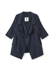 Dash Waterfall Tencel Jacket Navy