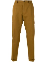 Dolce And Gabbana Classic Chino Trousers Brown