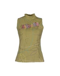 Blu Byblos Topwear T Shirts Women Military Green