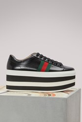 Gucci Leather Platform Sneakers Black