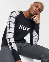 Huf Alas Dyed Long Sleeve T Shirt In Black
