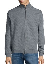 Black Brown Quilted Baseball Jacket French Grey