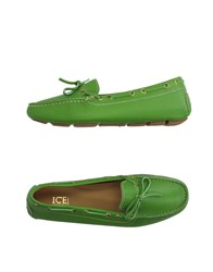 Ice Iceberg Footwear Moccasins Women Green