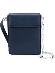 Thierry Mugler Mugler Chain Mini Shoulder Bag Blue