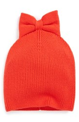 Kate Spade Women's New York Bow Beanie Red