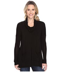 Mod O Doc Rayon Spandex Jersey Pullover Cowl Funnel Tunic Black Women's Clothing