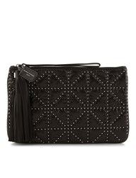 Sonia Rykiel Black Studded Tassel Clutch Bag Grey
