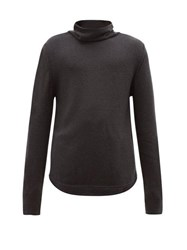Denis Colomb Funnel Neck Cashmere Sweater Charcoal