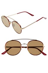 Women's Sunday Somewhere 'Parker' 52Mm Sunglasses Chocolate Tort Gold Bronze