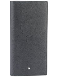 Montblanc Sartorial Long Wallet Men Leather One Size Grey