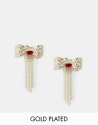 Les Nereides Bow Stud Earrings Silver