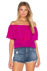 Amanda Uprichard Kiara Top Fuchsia