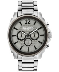Kenneth Cole Reaction Men's Chronograph Stainless Steel Bracelet Watch 48Mm 10031947 Silver
