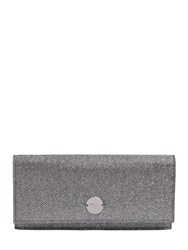 Jimmy Choo Fie Glitter Fabric And Leather Clutch