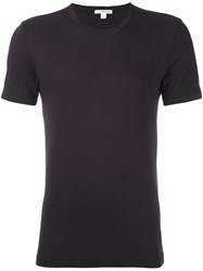 James Perse Round Neck T Shirt Brown