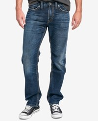 Silver Jeans Co. Men's Eddie Relaxed Fit Tapered Stretch Indigo