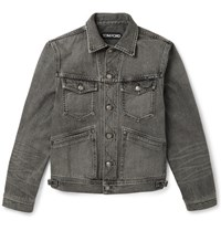 Tom Ford Slim Fit Denim Jacket Gray