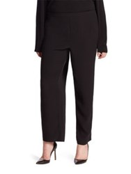 Eileen Fisher Silk Straight Leg Ankle Pants Black