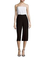 Alice Olivia Strapless Cropped Jumpsuit White Black