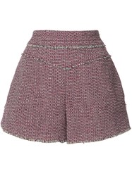 Chloe Raw Edged Shorts Pink Purple