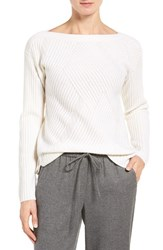 Nordstrom Women's Collection High Low Boatneck Cashmere Sweater
