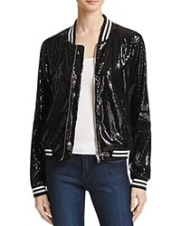 Bb Dakota Emery Sequin Bomber Jacket Black