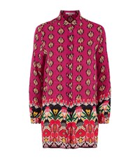 Etro Ikat Silk Tunic Shirt Female Pink