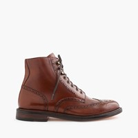J.Crew Ludlow Wing Tip Boots English Tan