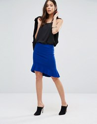 Unique 21 Flippy Hem Skirt Blue
