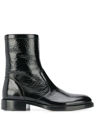 Givenchy Patent Leather Ankle Boots Black