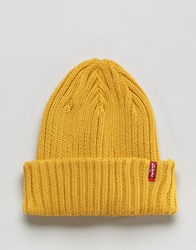 Levi's Ribbed Beanie In Yellow Yellow