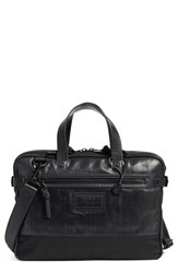 John Varvatos Men's Collection Detroit Leather Briefcase