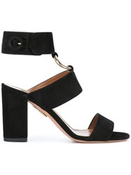 Aquazzura Safari Sandals Black