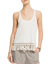Scotch And Soda Fringed Linen Tank Off White