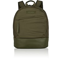 Want Les Essentiels Kastrup Leather Trimmed Backpack Dk. Green
