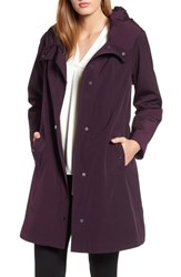 Gallery A Line Raincoat Blackberry