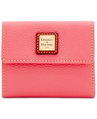Dooney And Bourke Pebble Small Flap Wallet Bubble Gum