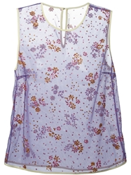 Mary Katrantzou Floral Embellished Tank Pink And Purple