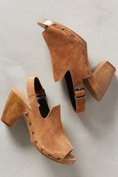 Anthropologie Kelsi Dagger British Clogs Camel 7.5 Wedges