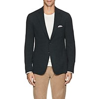 Isaia Cortina Wool Blend Two Button Sportcoat Dk. Green