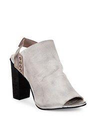 Free People Picture This Leather Mules Dove Grey