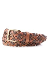 Tommy Bahama Braided Leather Belt Multi Neutral